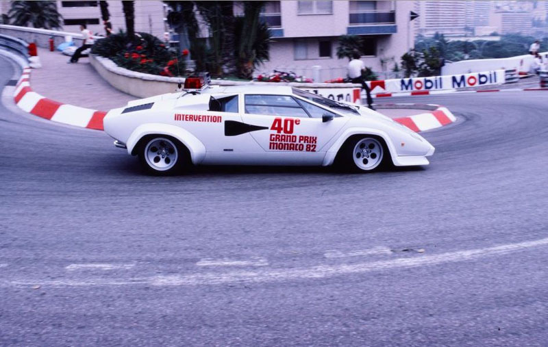 Lamborghini Countach Pace Cars In Monaco Gp 1981 1983