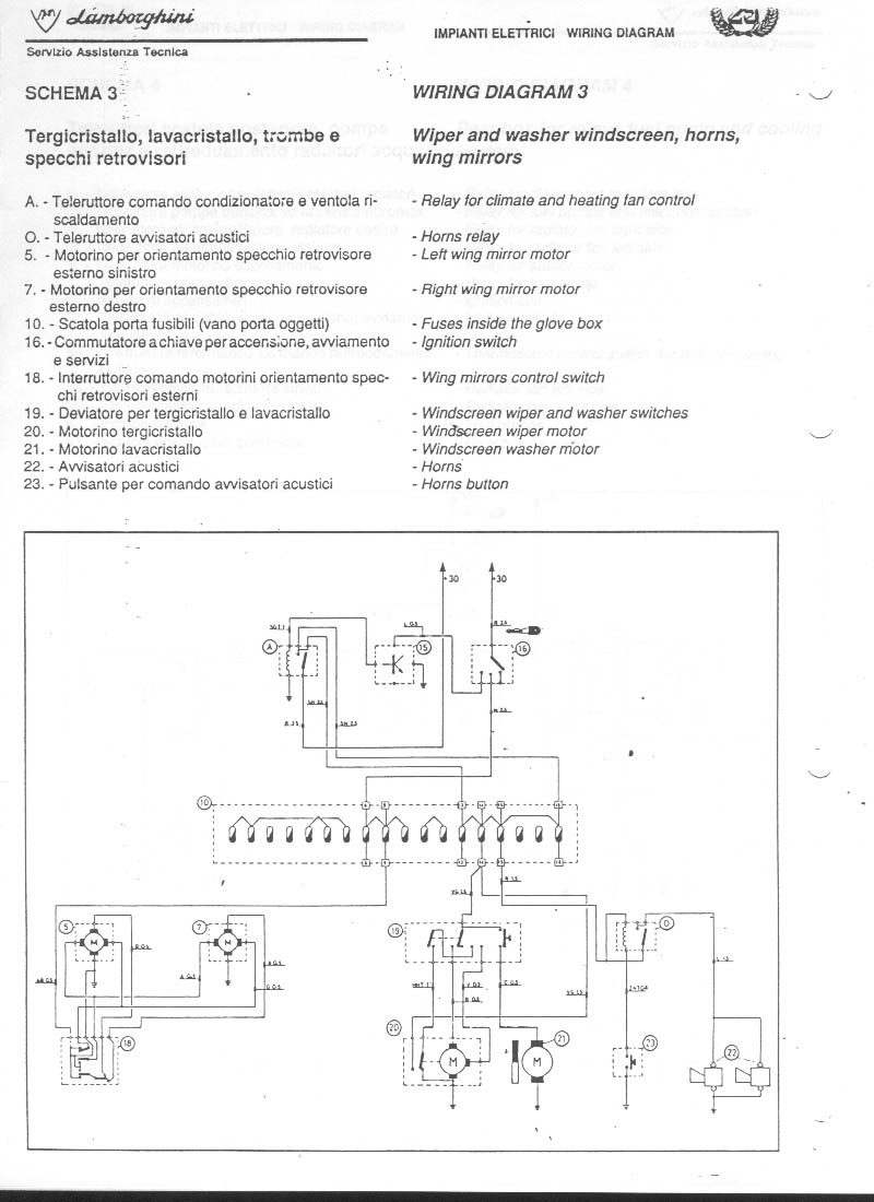 ... Lamborghini Countach 25th Electric Wiring – Lamborghini Countach Wiring Diagram ...