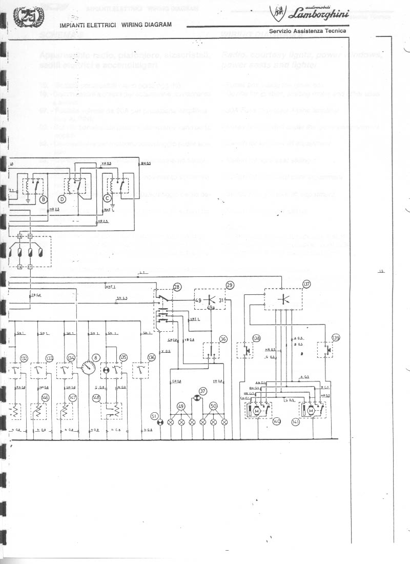 service manual  1988 lamborghini countach fuse box diagram