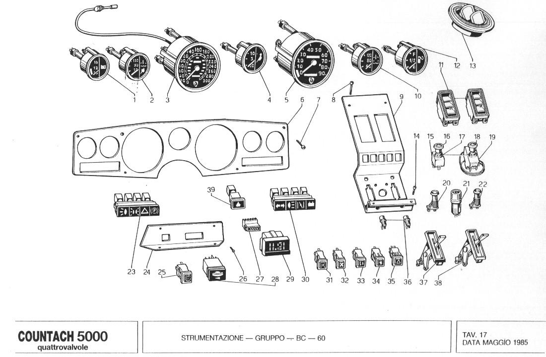 lamborghini countach qv spare parts manual. Black Bedroom Furniture Sets. Home Design Ideas