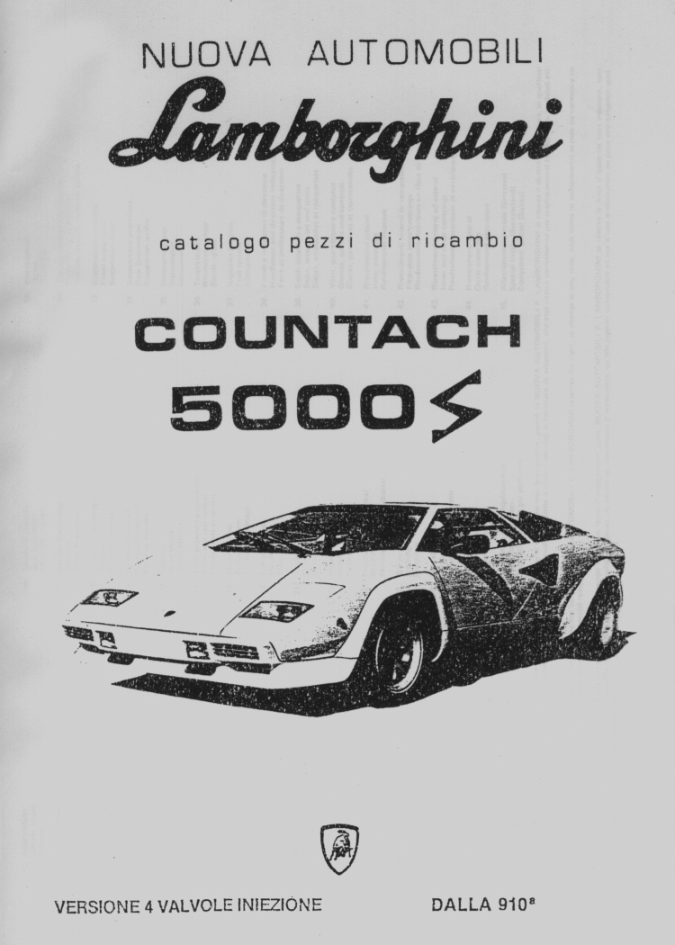 lamborghini countach owners manual 1988 lamborghini. Black Bedroom Furniture Sets. Home Design Ideas